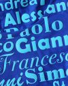 T-shirt blu in floccato